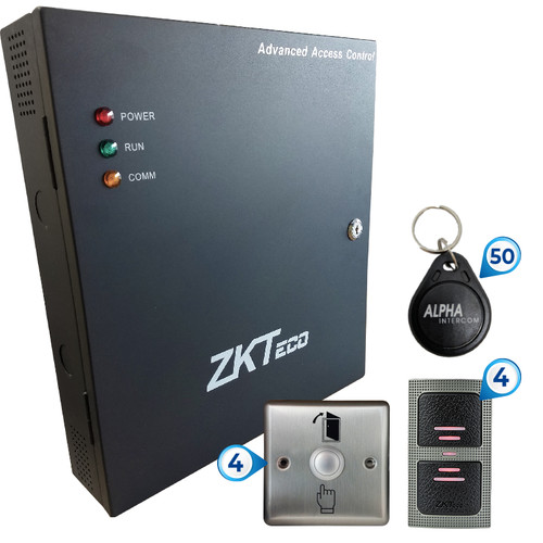 KIT 4 Doors - ACCESS CONTROL CANADA