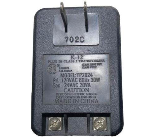 24VAC transformer plug-in 20VA