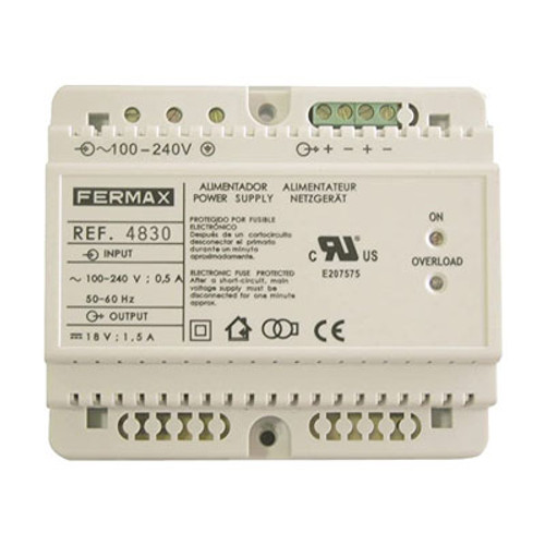 Fermax 4830 CUL Power supply 18V DC/3,5A - Fermax 4830 CUL Alimentation 18V DC/3,5A