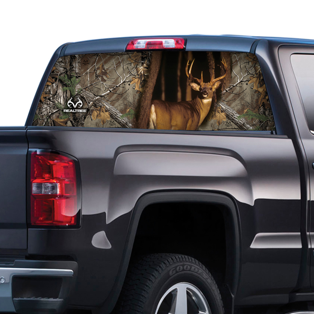 CAMO CAMOUFLAGE PICKUP TRUCK BACK WINDOW GRAPHIC DECAL TINT HUNTING CAMO