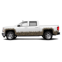 EXTENDED CAB- WHEEL WELLS AND ROCKER PANEL CAMO GRASS