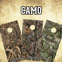 CORNHOLE BOARD VINYL GRAPHIC KIT-  CAMO
