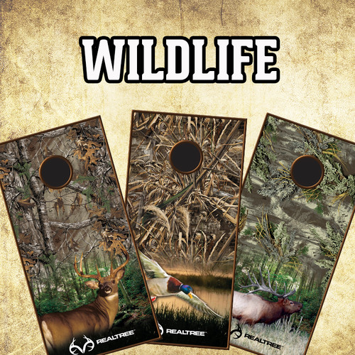 CORNHOLE BOARD VINYL GRAPHIC KIT- WILDLIFE