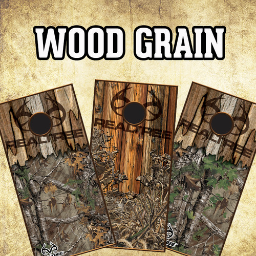 CORNHOLE BOARD VINYL GRAPHIC KIT- WOOD GRAIN