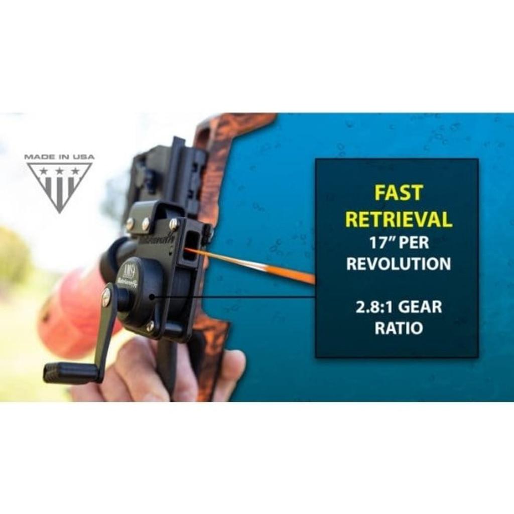 AMS Bowfishing Retriever® Pro Bowfishing Reel Fast Retrieval