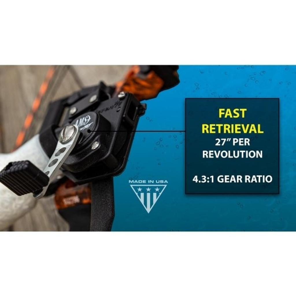 AMS Bowfishing Retriever® TNT Bowfishing Reel Fast Retrieval