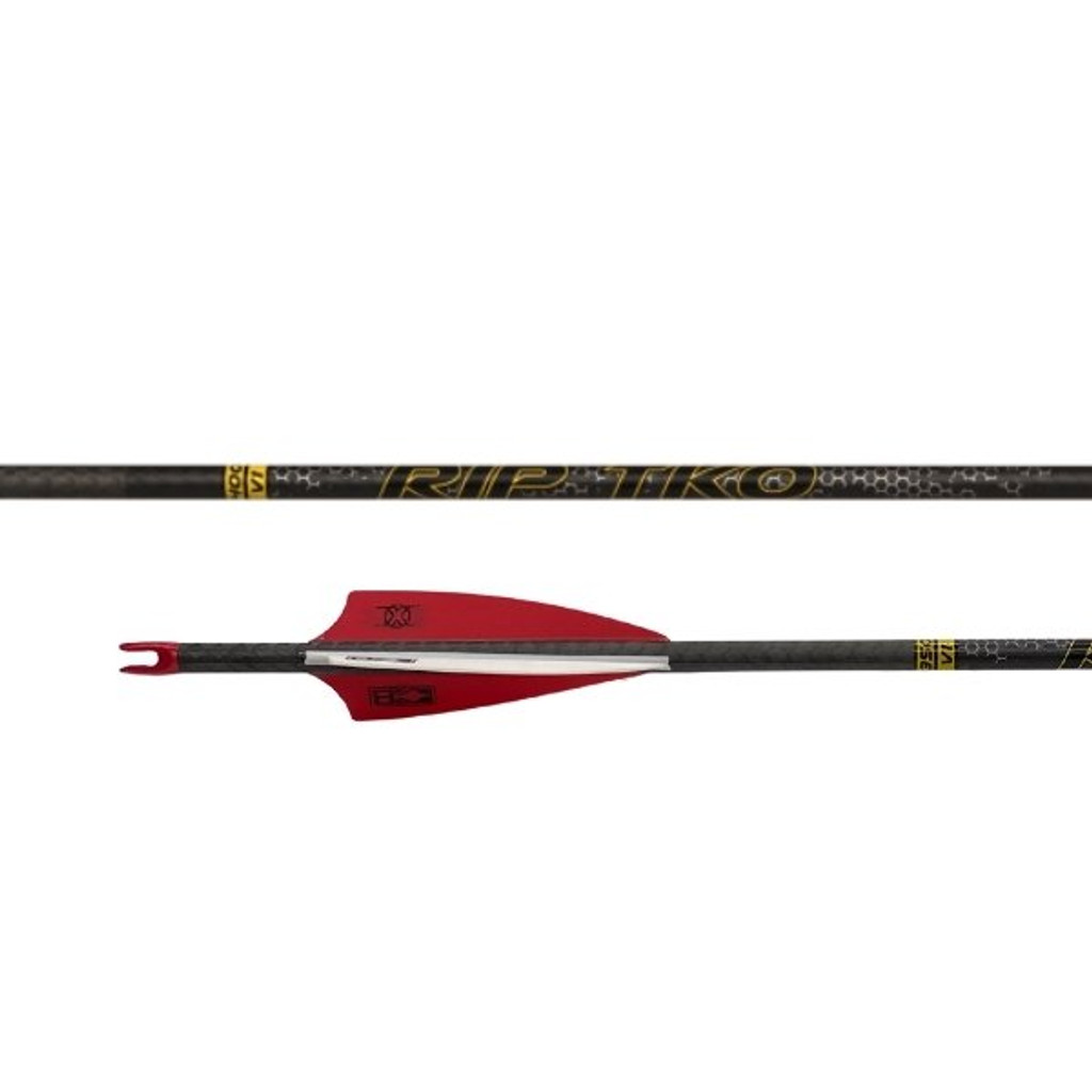 Victory RIP TKO Elite Arrow Fletched With 3'' Vanes With Helical (6 pack)