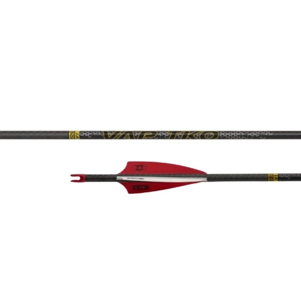 """Victory VAP TKO Elite Arrow Fletched With 3"""" Vanes With Helical (6 pack)"""