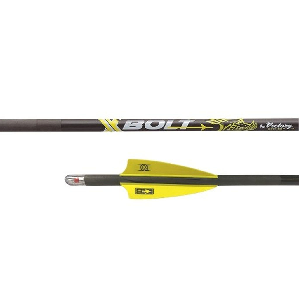 Victory XBolt Fletched Arrow With Half Moon Lighted Nock (3 pack)