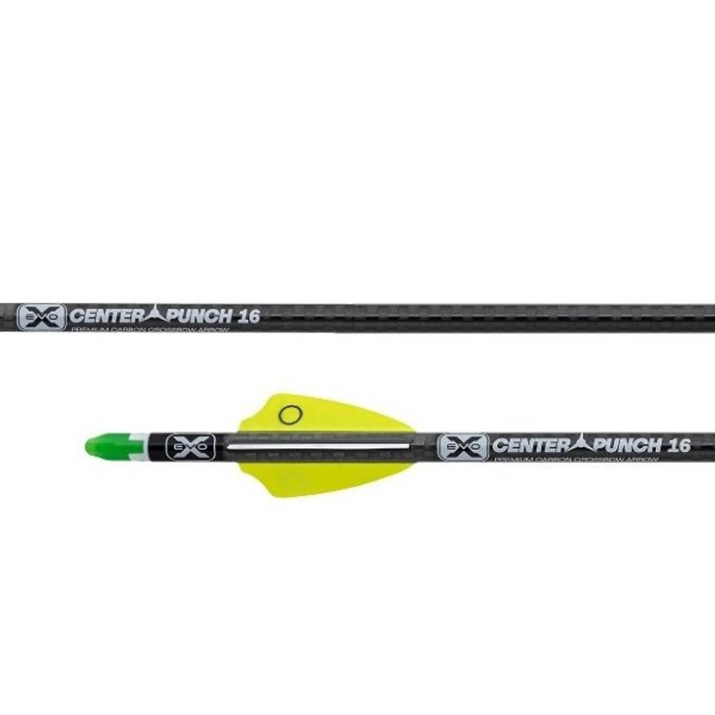 Tenpoint EVO-X CenterPunch16 Premium Carbon Crossbow Arrows With Alpha Nocks