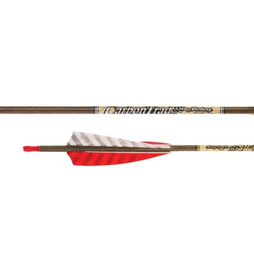Victory Carbon Trad Sport Feather Fletched Arrow (6 pack)