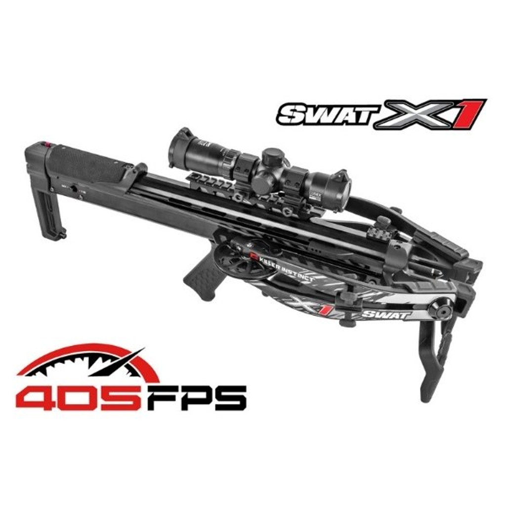 Killer Instinct Swat X1 Crossbow Kit With Crank And Hand Sled 405 FPS