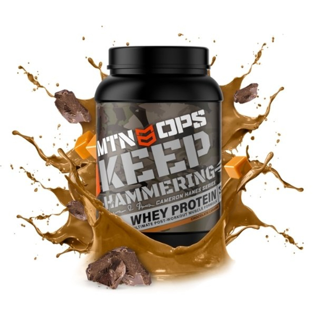 MTN OPS KEEP HAMMERING Whey Protein Chocolate Caramel