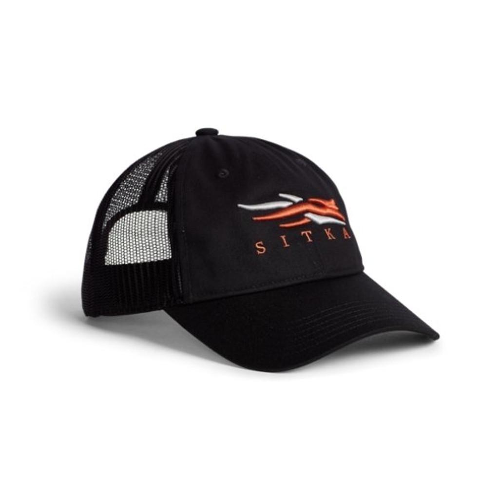 Sitka Icon Lo Pro Trucker Hat Black
