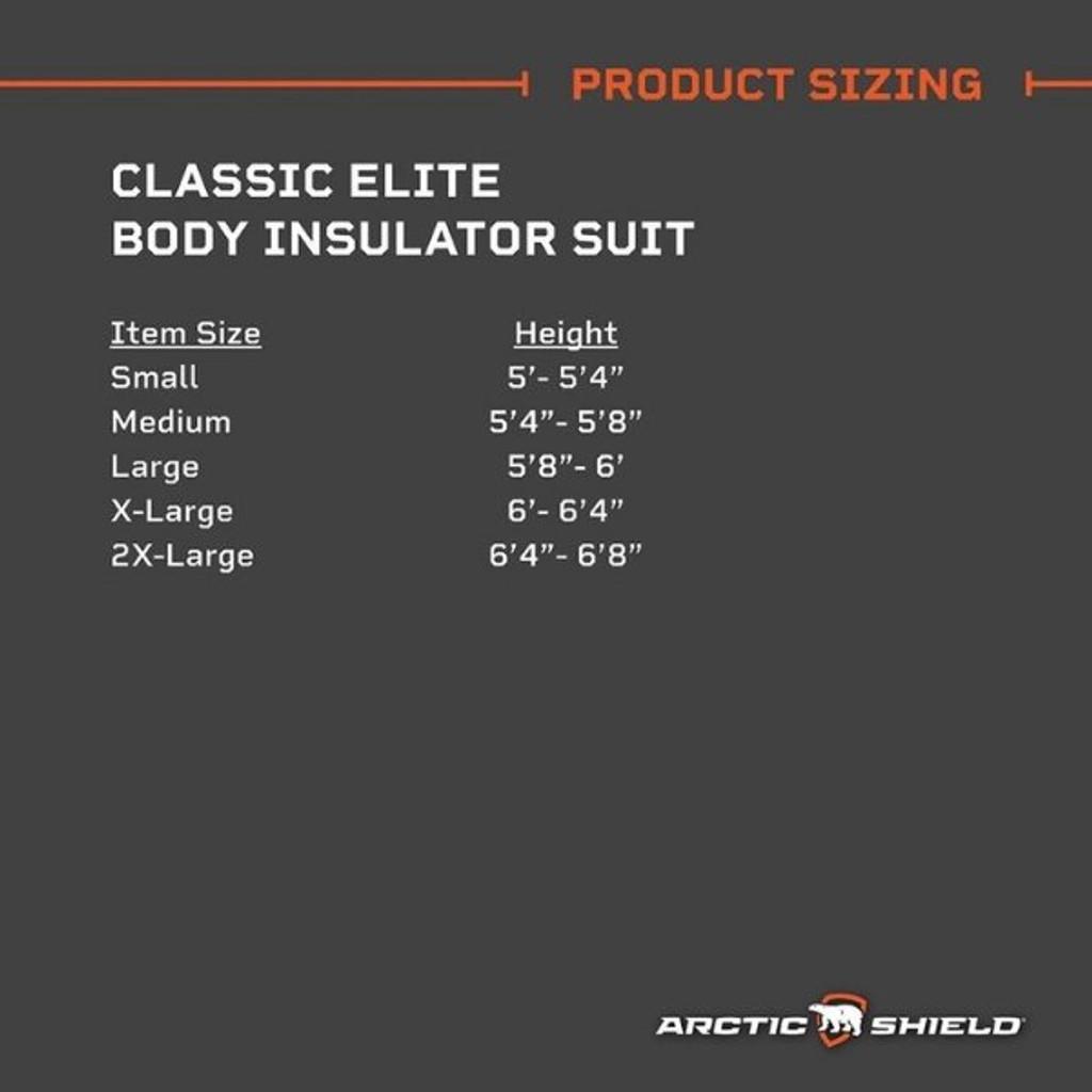 Arctic Shield Classic Elite Body Insulator Suit Realtree Edge - X-Large
