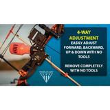 AMS Bowfishing Retriever® Pro Bowfishing Reel 4 Way Adjustment