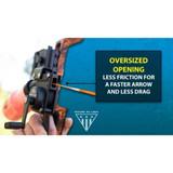 AMS Bowfishing Retriever® Pro Bowfishing Reel Oversized Opening