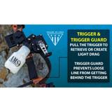 AMS Bowfishing Retriever® Pro Bowfishing Reel Trigger and Trigger Guard