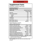 MTN OPS IGNITE Tigers Blood Nutrition Facts