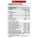 MTN OPS IGNITE Tigers Blood Single Serve Nutrition Facts