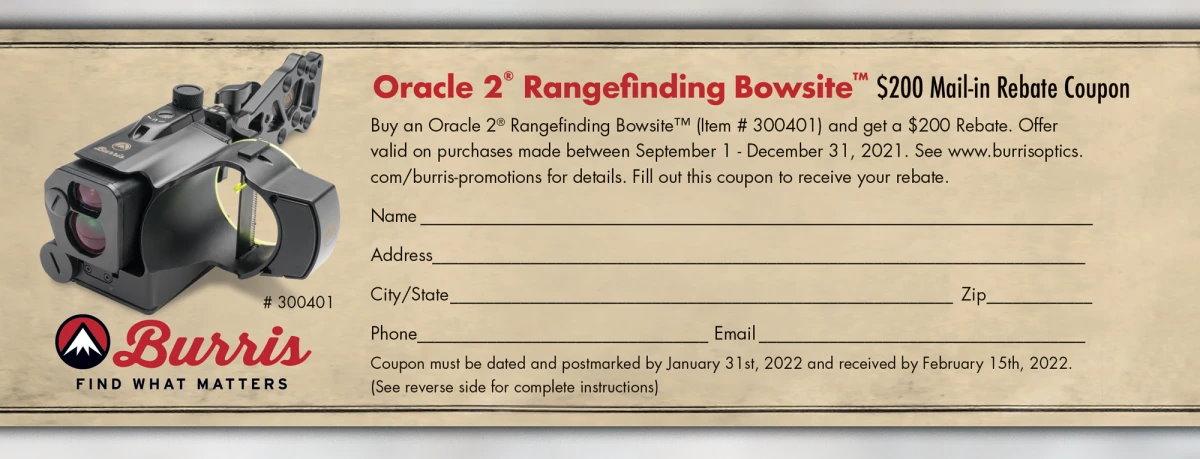 Burris Oracle 2 Mail In Rebate