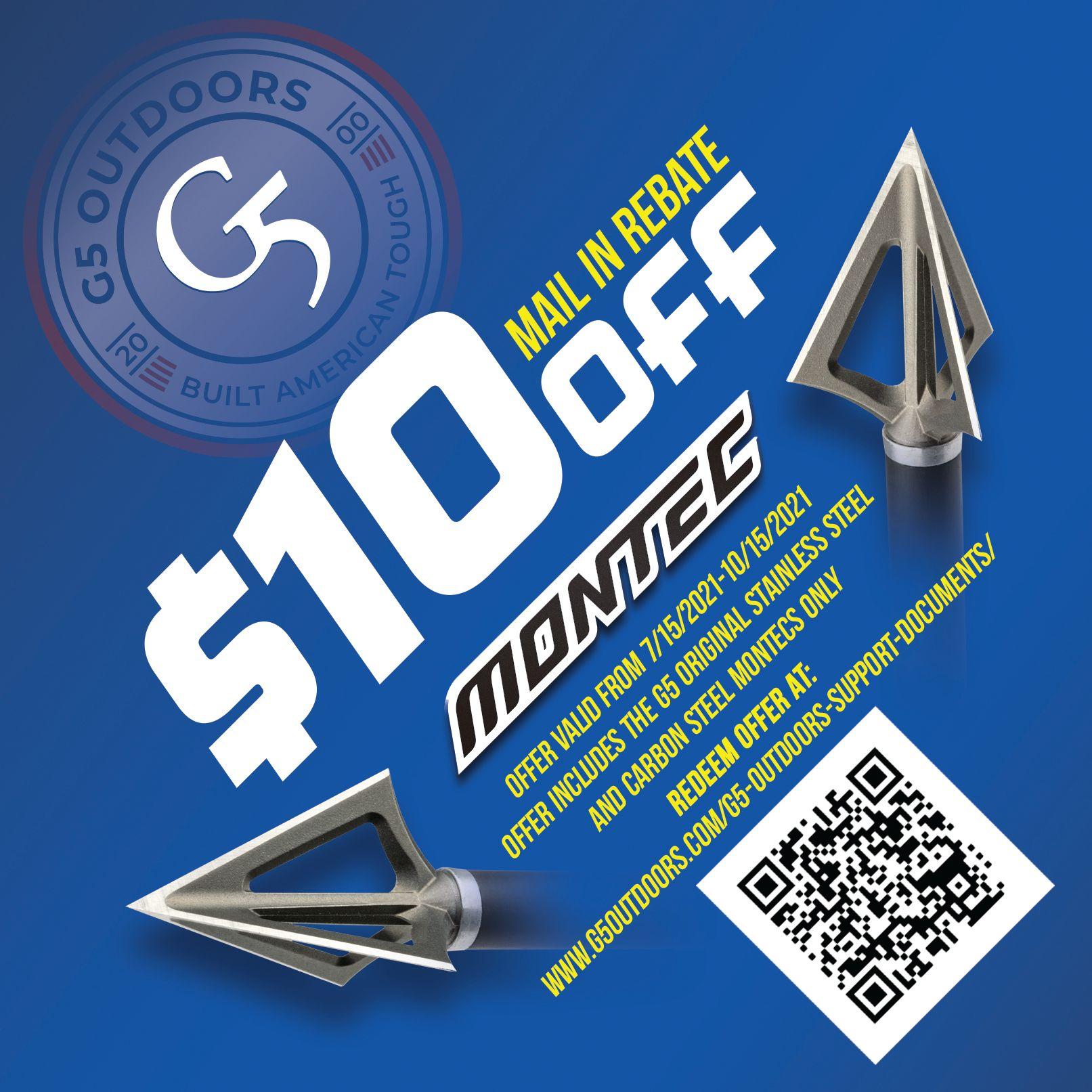 G5 Montec Mail In Rebate