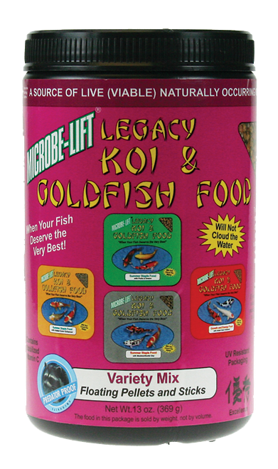 Microbe-Lift Legacy Koi and Goldfish Food - Variety Mix 11 oz.