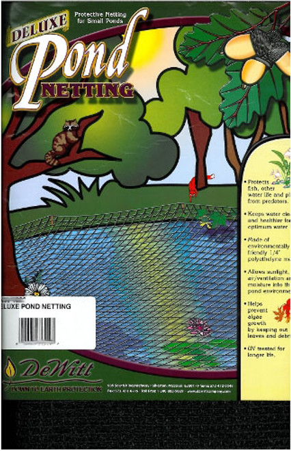 20' x 20' Deluxe Pond Netting / Covers + Stakes