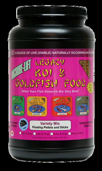 Microbe-Lift Legacy Koi and Goldfish Food - Variety Mix 2 lb. 4 oz.