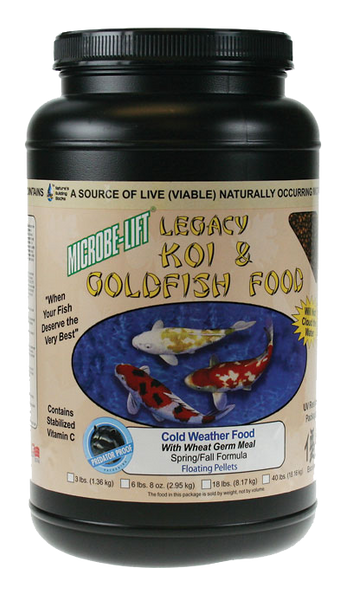 Microbe-Lift Legacy Koi and Goldfish Food - Cold Weather 2 lb. 4 oz.