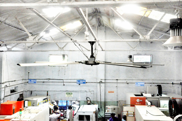 16-ft Diameter Installed Fan