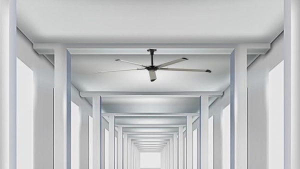 08-ft 5-Blades 165 RPM Commercial HVLS Fan with Hx Motor and Controller - 30Nm/0.4kW/0.5hp
