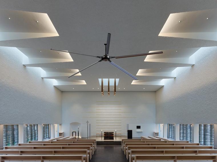 Epoch HVLS Fan installed at Church