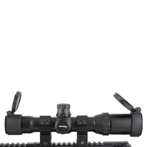 "CQB 1-4x28L Compact Scope/Chevron/ 5"" Long Eye Relief"