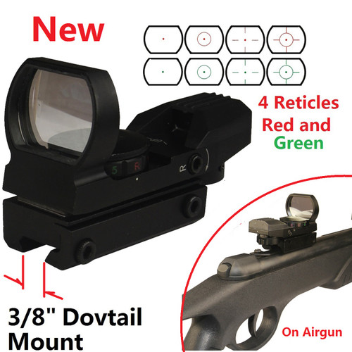 Red/Green Dot Sight 4 Reticles Adj. Illumination