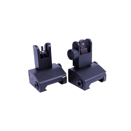 Aluminum Micro Flip Up Front and Rear AR Sight