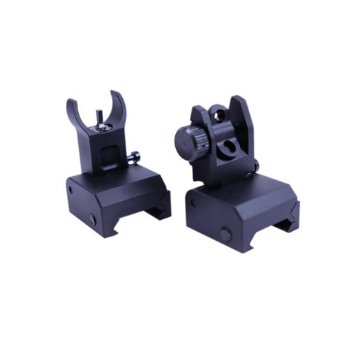 Aluminum Micro Flip Up Front and Rear AR Sight Version 2