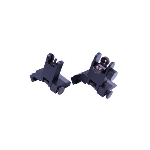 Aluminum Micro Flip Up Front and Rear AR Sight/ 45 Degree Mount