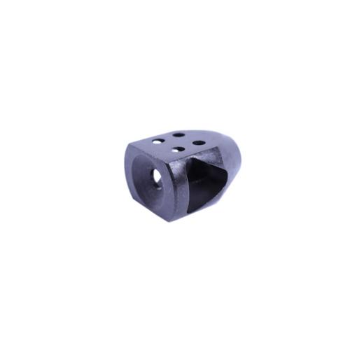 9mm Mini Tanker Style Muzzle Brake Triangular Baffles 1/2x36