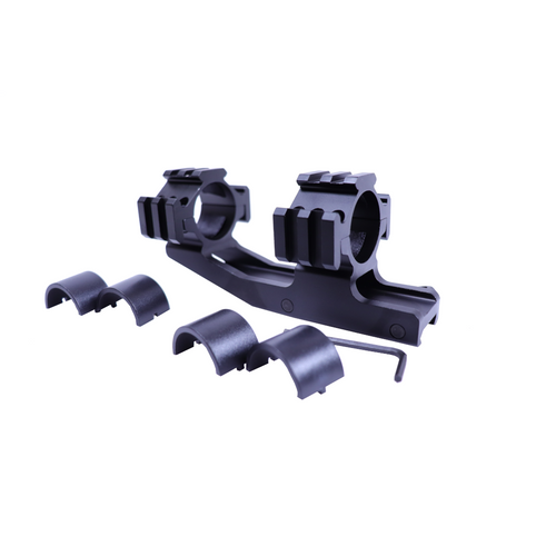 """30mm Gooseneck Canti Lever Mount With 25mm inserts for 1"""" Tubes"""