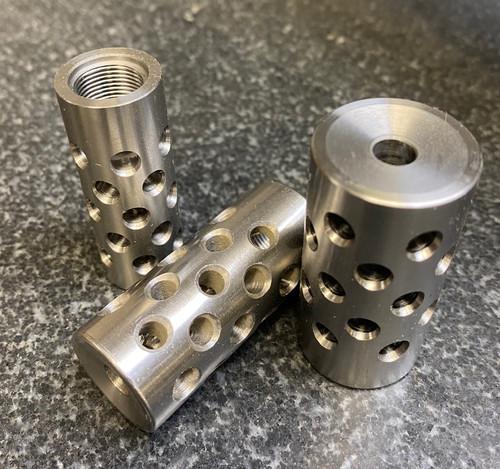 "Radial Port Muzzlebrake - 4140 Steel - .875"" OD 9/16-28"