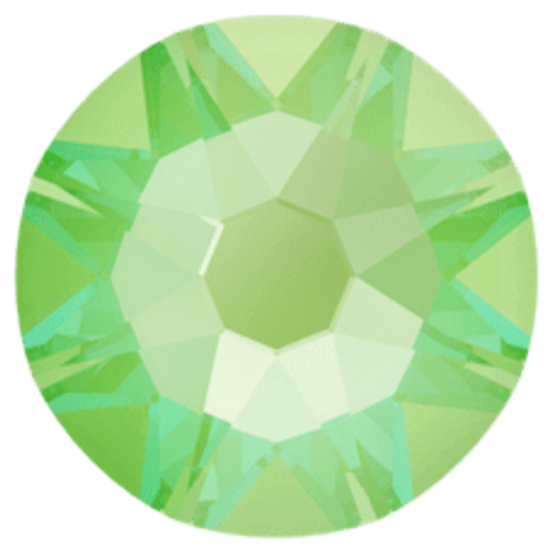 2088 Crystal Electric Green DeLite Flatback