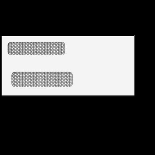 "E9156414 - Double Window Envelope - Moisture Seal - 3 7/8"" x 8 5/8"""