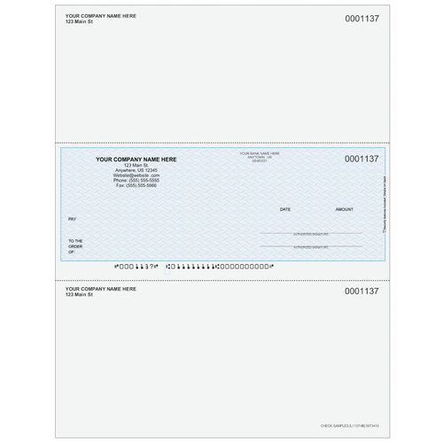 L1137 - Preprinted Middle Business Check