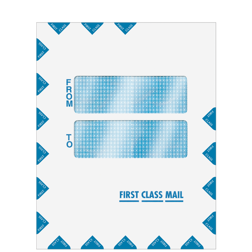80922 - Double Window First Class Mail Envelope (Peel & Close)