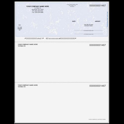 L1467 - Multi-Purpose Top Business Check