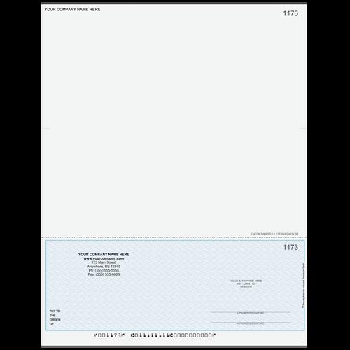 L1173B - Multi-Purpose Bottom Business Check (One Perf)