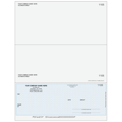 L1105 - Multi-Purpose Bottom Business Check