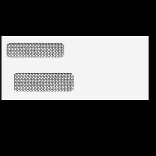80714 - Double Window Envelope - Moisture Seal - 3 7/8 x 8 7/8