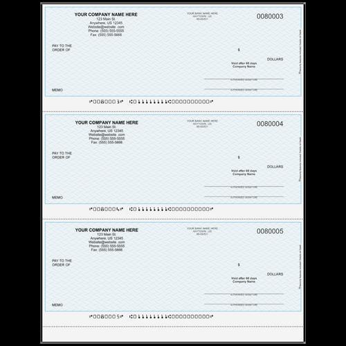 L80003 - Multi-Purpose 3-up Business Check